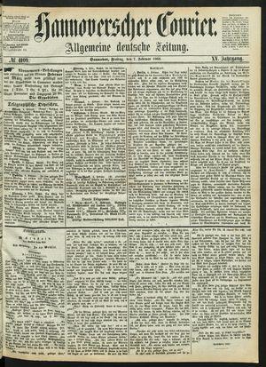 Hannoverscher Kurier vom 07.02.1868