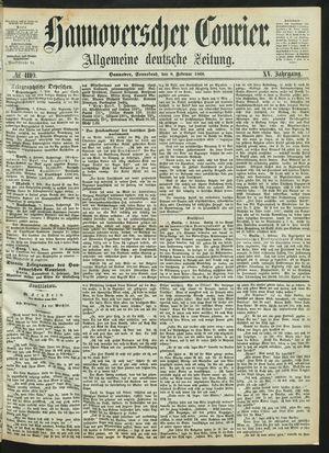 Hannoverscher Kurier vom 08.02.1868
