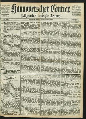 Hannoverscher Kurier vom 10.02.1868