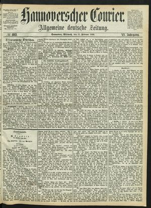 Hannoverscher Kurier vom 12.02.1868