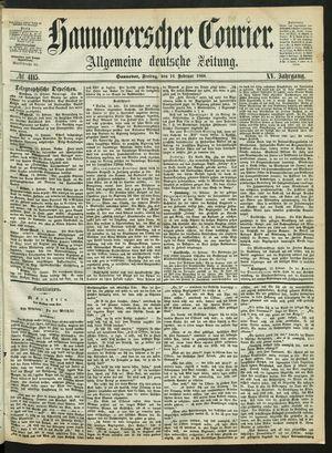 Hannoverscher Kurier vom 14.02.1868