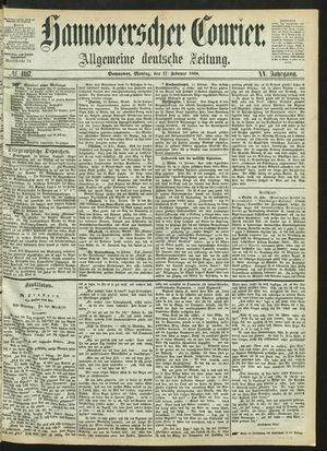 Hannoverscher Kurier vom 17.02.1868