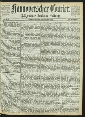 Hannoverscher Kurier vom 19.02.1868