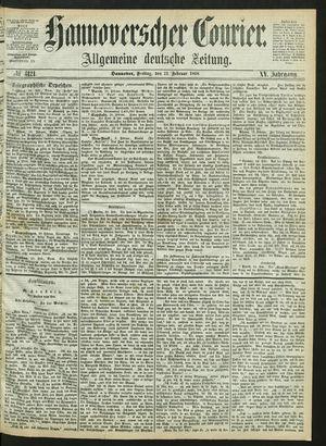 Hannoverscher Kurier vom 21.02.1868