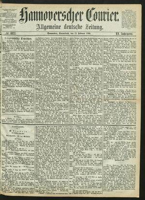 Hannoverscher Kurier vom 22.02.1868