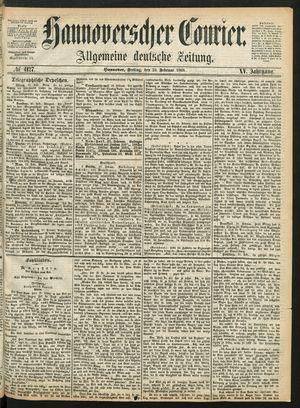 Hannoverscher Kurier vom 28.02.1868