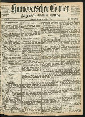 Hannoverscher Kurier vom 02.03.1868