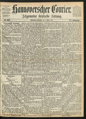 Hannoverscher Kurier vom 03.03.1868