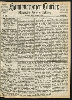 Hannoverscher Kurier vom 09.03.1868