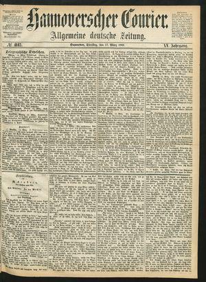 Hannoverscher Kurier vom 17.03.1868