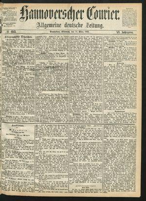 Hannoverscher Kurier vom 18.03.1868
