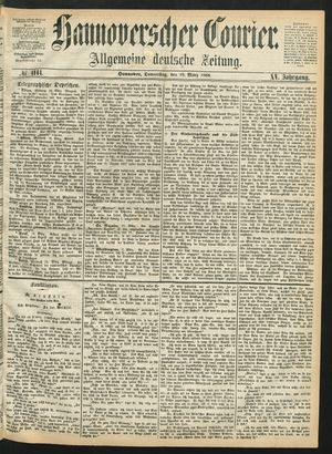 Hannoverscher Kurier vom 19.03.1868