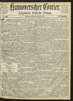 Hannoverscher Kurier vom 20.03.1868