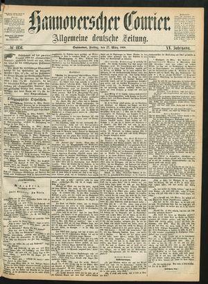 Hannoverscher Kurier vom 27.03.1868