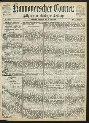 Hannoverscher Kurier on Mar 28, 1868