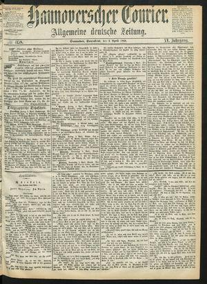 Hannoverscher Kurier vom 04.04.1868