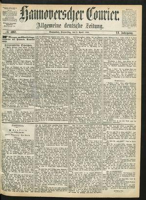 Hannoverscher Kurier on Apr 9, 1868