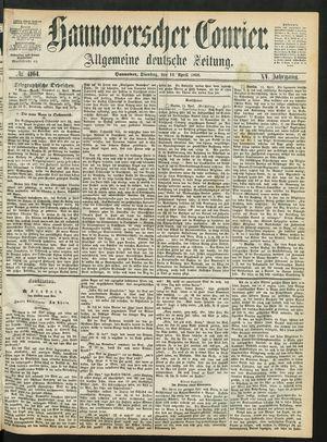 Hannoverscher Kurier vom 14.04.1868
