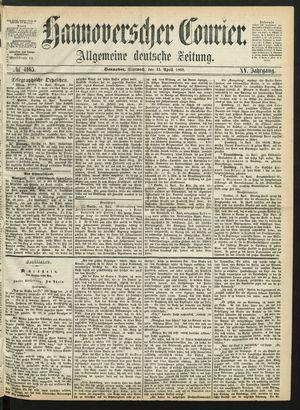 Hannoverscher Kurier vom 15.04.1868
