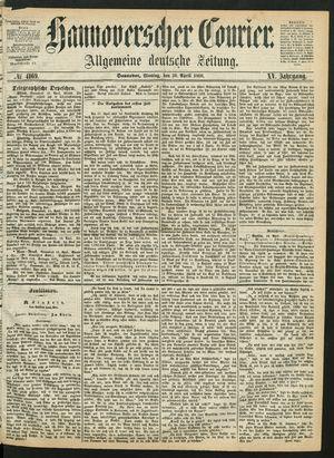 Hannoverscher Kurier vom 20.04.1868