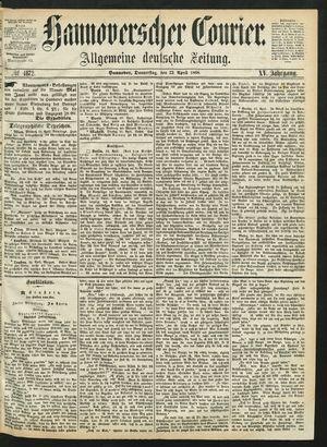 Hannoverscher Kurier vom 23.04.1868