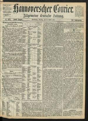 Hannoverscher Kurier vom 27.04.1868