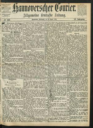 Hannoverscher Kurier on Apr 29, 1868