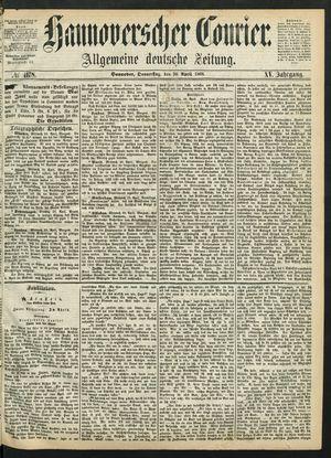 Hannoverscher Kurier vom 30.04.1868