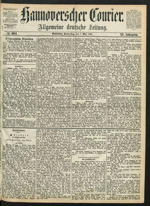 Hannoverscher Kurier vom 07.05.1868