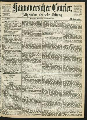 Hannoverscher Kurier vom 16.05.1868