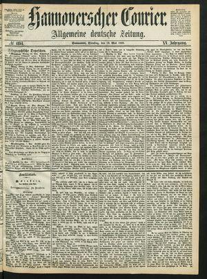 Hannoverscher Kurier vom 19.05.1868