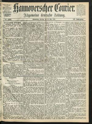 Hannoverscher Kurier vom 29.05.1868