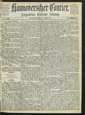 Hannoverscher Kurier vom 02.06.1868