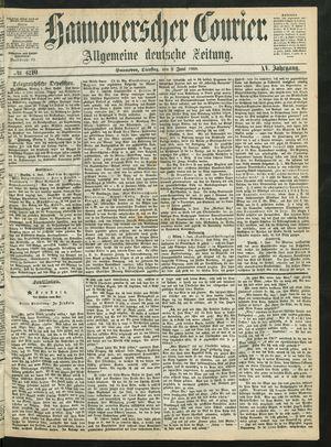 Hannoverscher Kurier vom 09.06.1868