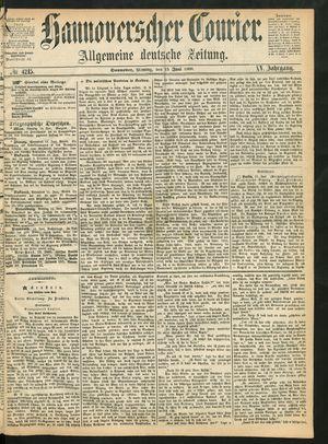 Hannoverscher Kurier vom 15.06.1868