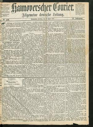 Hannoverscher Kurier vom 19.06.1868