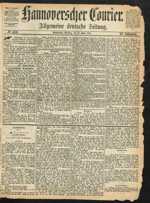 Hannoverscher Kurier vom 22.06.1868