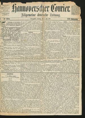 Hannoverscher Kurier vom 02.07.1869