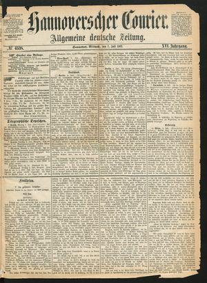 Hannoverscher Kurier vom 07.07.1869