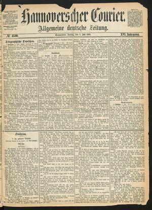 Hannoverscher Kurier vom 09.07.1869