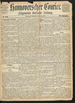 Hannoverscher Kurier vom 10.07.1869