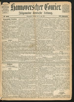 Hannoverscher Kurier vom 13.07.1869
