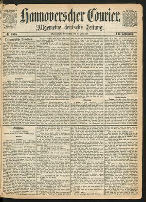 Hannoverscher Kurier vom 15.07.1869