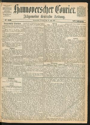 Hannoverscher Kurier vom 20.07.1869