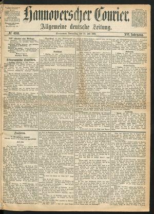 Hannoverscher Kurier vom 22.07.1869