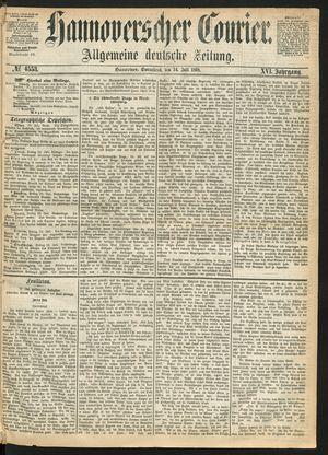 Hannoverscher Kurier vom 24.07.1869