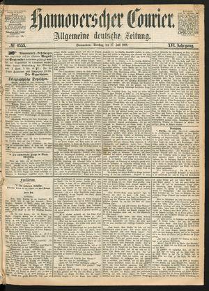 Hannoverscher Kurier vom 27.07.1869