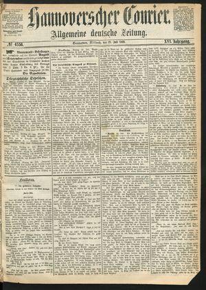 Hannoverscher Kurier vom 28.07.1869