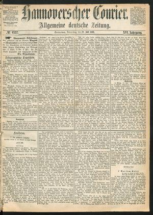 Hannoverscher Kurier vom 29.07.1869