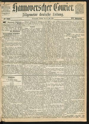 Hannoverscher Kurier vom 30.07.1869